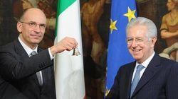 Enrico Letta spiazzato dalle parole di Mario Monti. E tra i due scende il