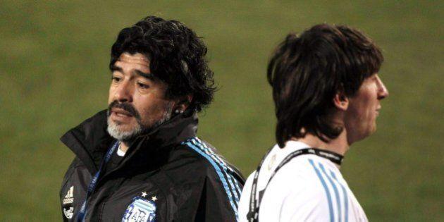 Mondiali 2014 finale Germania Argentina. Diego Armando Maradona: