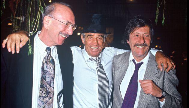 Jean-Pierre Marielle, Jean-Paul Belmondo et Jean Rochefort pour le 60e anniversaire de Jean-Paul Belmondo,...