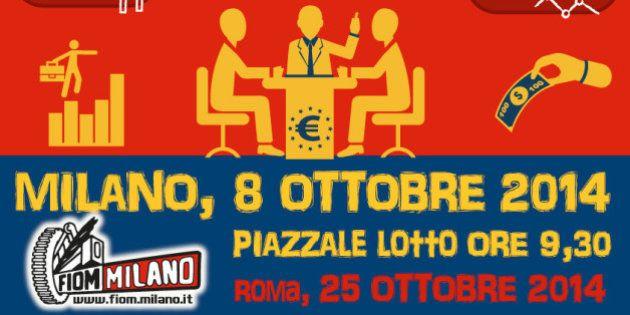Jobs Act, domani a Milano derby a distanza Renzi-Landini: il primo al vertice Ue, il secondo in