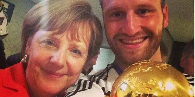 Germania Argentina finale Mondiali 2014, i selfie di Angela Merkel con i campioni del mondo