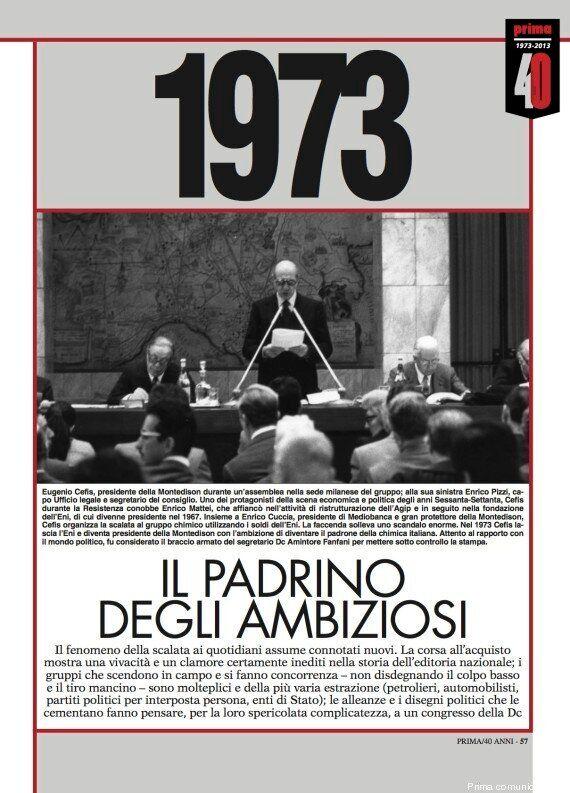 Prima Comunicazione compie 40 anni (1973 - 2013) e festeggia con un numero speciale di 500 pagine