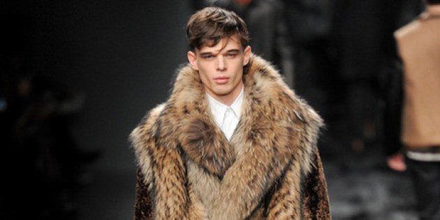 Milano moda uomo inverno 2014-2015, la pelliccia trionfa. Hippie, bohémien, rock, tutte le tendenze