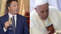 Il brindisi dolce-amaro tra papa Francesco e Matteo Renzi