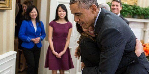 Il 2014 alla Casa Bianca: dall'abbraccio di Obama ad una sopravvissuta all'Ebola al viaggio in Cina di...
