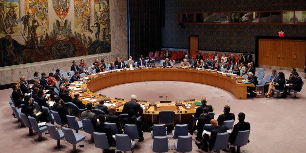The United Nations Security Council sit for a high level meeting on Syria at the United Nations in Manhattan, New York, U.S.,