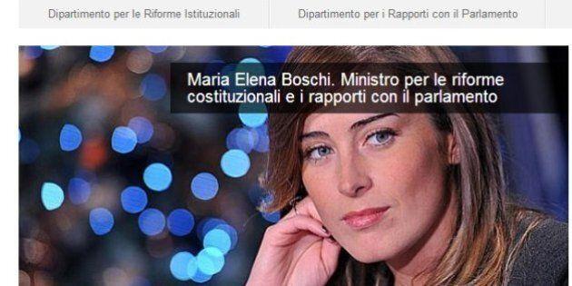 Maria Elena Boschi e Federica Mogherini a tutto campo sui siti dei ministeri