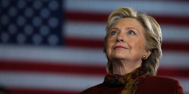 U.S. Democratic presidential nominee Hillary Clinton attends a campaign rally accompanied by vice presidential nominee Senato