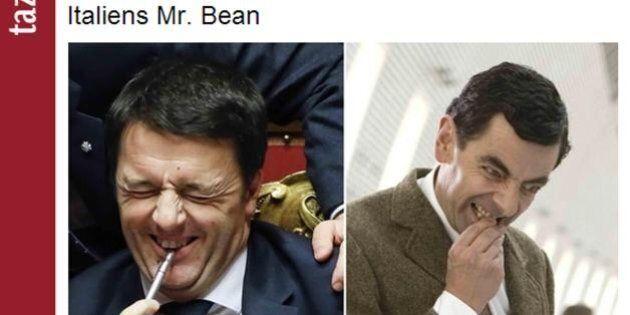 Matteo Renzi come Mr Bean: tutte le facce del nuovo premier viste dal quotidiano tedesco Taz