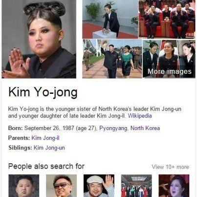 Kim Jong-un, Google fa confusione: la foto della sorella è l'immagine del dittatore truccato da donna