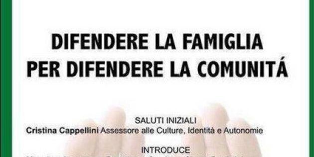Expo, convegno in difesa della famiglia tradizionale con il logo dell'Esposizione: