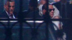 Berlusconi a Montecitorio con i parlamentari Pdl: