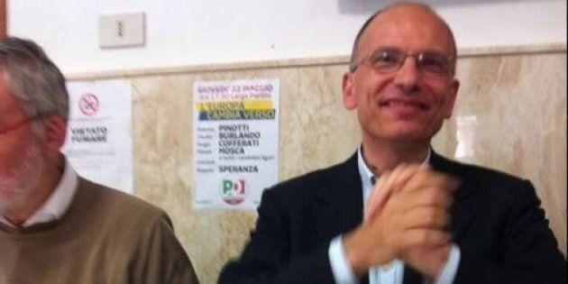 Enrico Letta a Genova con Sergio Cofferati per la campagna elettorale e con un occhio alla Commissione...