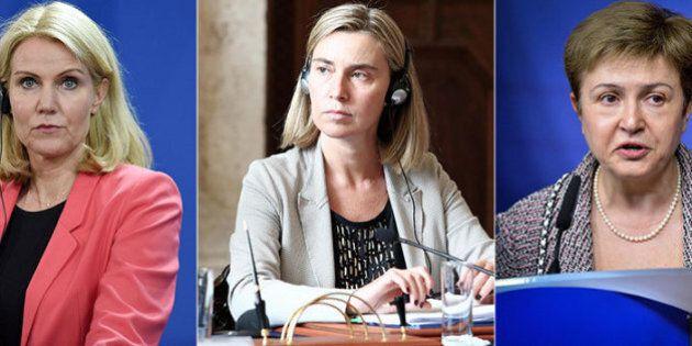 Federica Mogherini, Kristalina Georgieva, Helle Thorning-Schmidt. A Bruxelles oggi è battaglia sulle