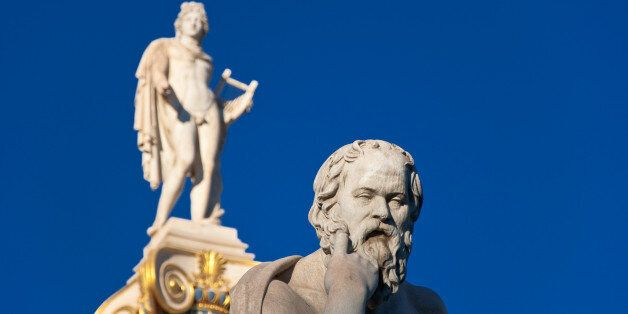 The statue of Socrates. Athens, Greece.