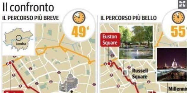 La mappa delle strade più belle. Un algoritmo italiano indica la via più suggestiva, anziché quella più...