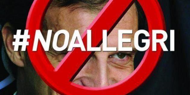 Massimiliano Allegri alla Juventus: l'allenatore non piace ai tifosi. Su Twitter parte la proesta