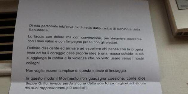 M5s: formalizzate sei dimissioni dal Senato. Romani:
