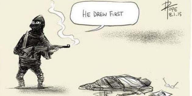 Attentato Charlie Hebdo, i vignettisti di tutto il mondo disegnano per manifestare solidarietà e dolore