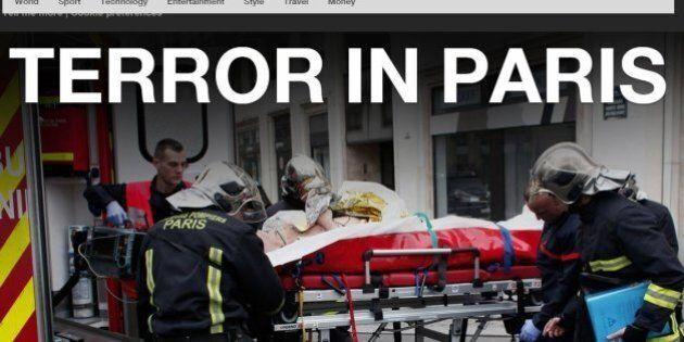 Charlie Hebdo, le prime pagine dei siti delle testate di stampa di tutto il mondo dedicate all'attentato...
