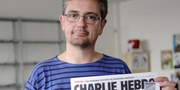 Stéphane Charbonnier, direttore di Charlie Hebdo, nel 2012: