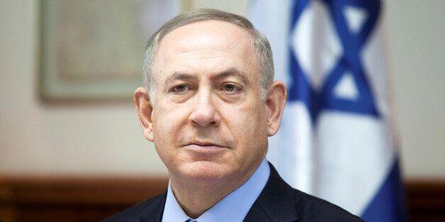 Israeli Prime Minister Benjamin Netanyahu attends the weekly cabinet meeting at his Jerusalem office December 25, 2016. REUTE