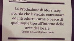 Una notte da vegetariani per Morrissey (FOTO,