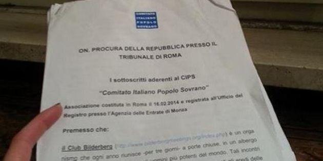 M5S denuncia il Club Bilderberg alla Procura di Roma. Tiziana Ciprini su Facebook: