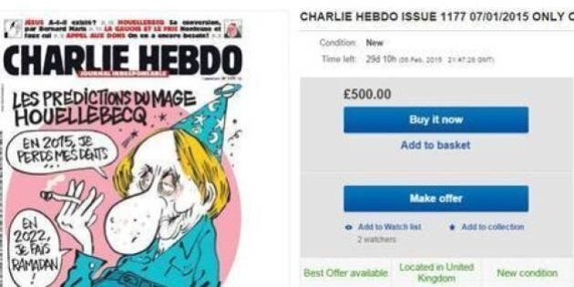 Charlie Hebdo: su eBay boom di richieste per l'ultimo numero del settimanale introvabile nelle edicole