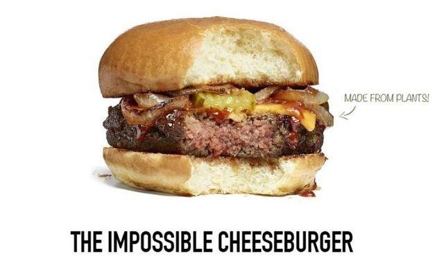 Un cheeseburger vegetariano al sangue,