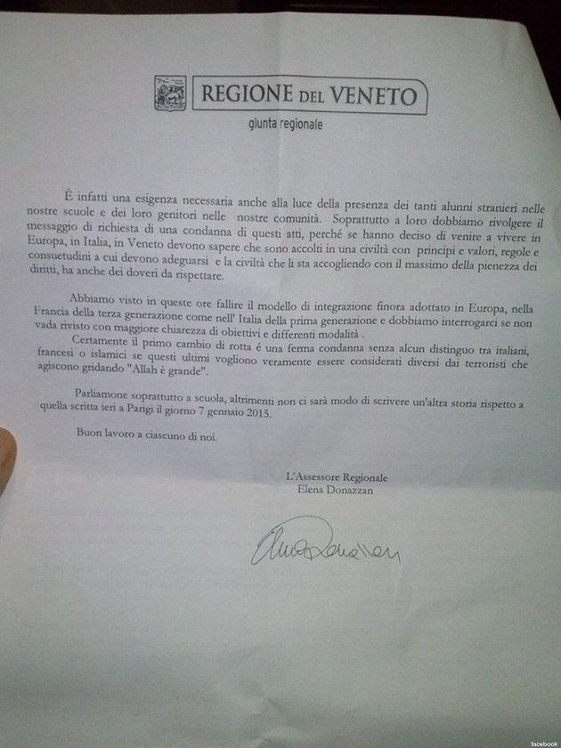Attentati Francia, circolare ai presidi del Veneto: