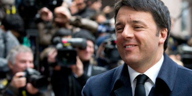 Italian Prime Minister Matteo Renzi arrives for an EU summit in Brussels on Friday, March 20, 2015. EU...