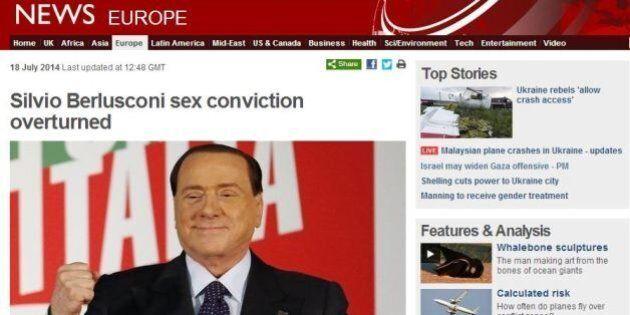 Silvio Berlusconi assolto, la notizia sui giornali stranieri. Bbc: