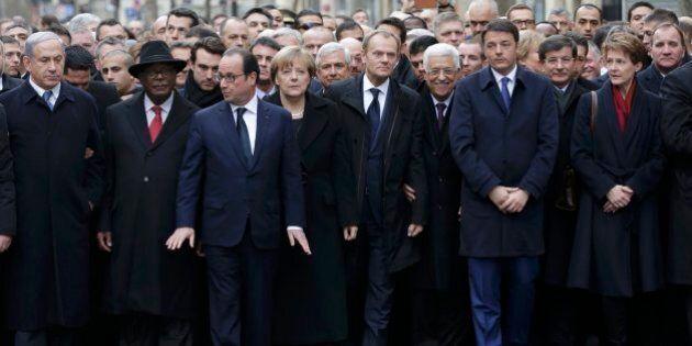 Attentati Parigi, critiche a Barack Obama per l'assenza alla marcia con i leader del mondo