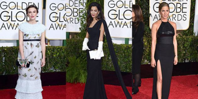 Golden Globes Awards 2015: vince Boyhood. Parata di stelle sul red carpet: Amal Clooney, Kate Hudson,...