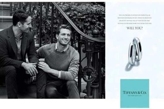 Tiffany, coppia gay nella pubblicità dei nuovi gioielli