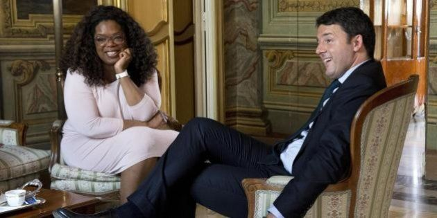 Matteo Renzi a pranzo con Oprah Winfrey. Su Twitter:
