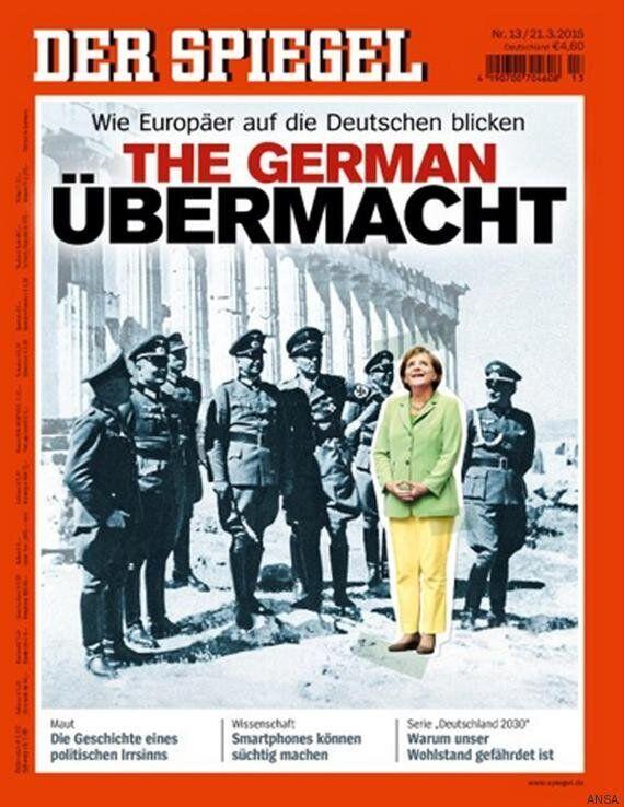 Angela Merkel tra i nazisti nella copertina dello Spiegel. Reportage sulla immagine della Germania in...