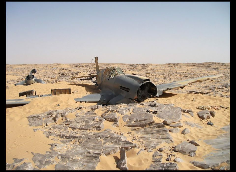 A World War II plane a British pilot crashed in the Saharan Desert has been found frozen in time 70 years later. The Kittyhaw