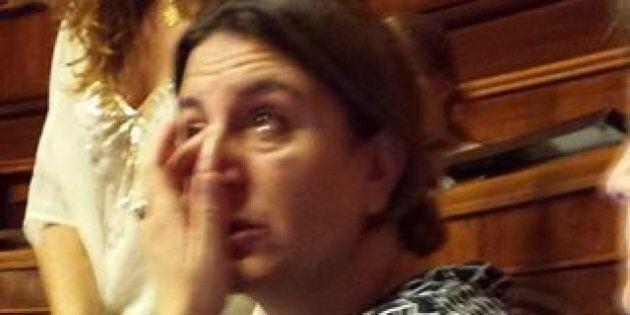 Senatrice grillina Nunzia Catalfo si commuove durante la discussione del ddl Boschi:
