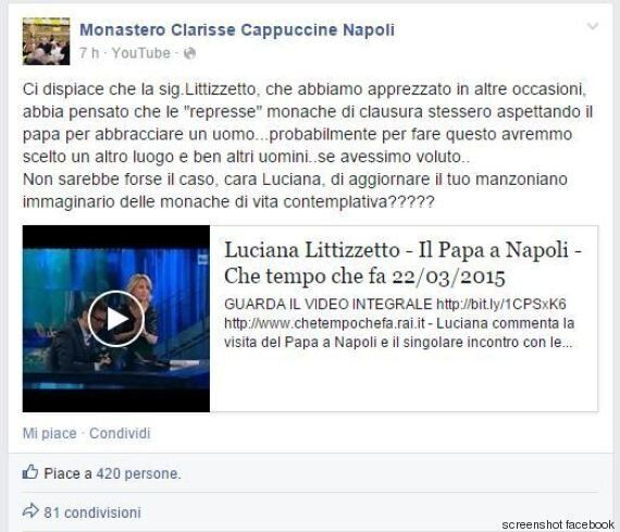 Luciana Littizzetto risponde alle suore napoletane:
