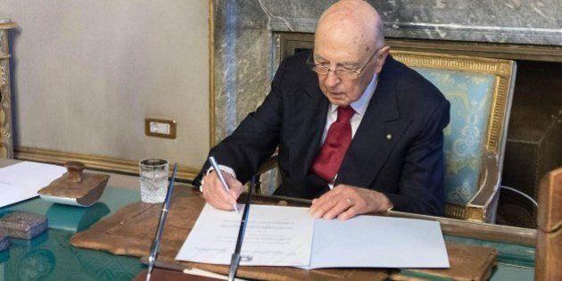 Giorgio Napolitano dimissioni, il presidente della Repubblica lascia il Quirinale. Le funzioni a Pietro...