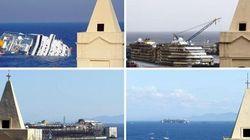 Costa Concordia, il prima e il dopo in immagini