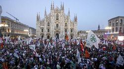 Lega in piazza a Milano contro l'immigrazione. Salvini: