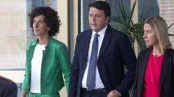 Agnese Renzi in verde smeraldo