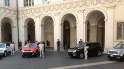 A Palazzo Chigi il primo modello di Jeep targato Fiat