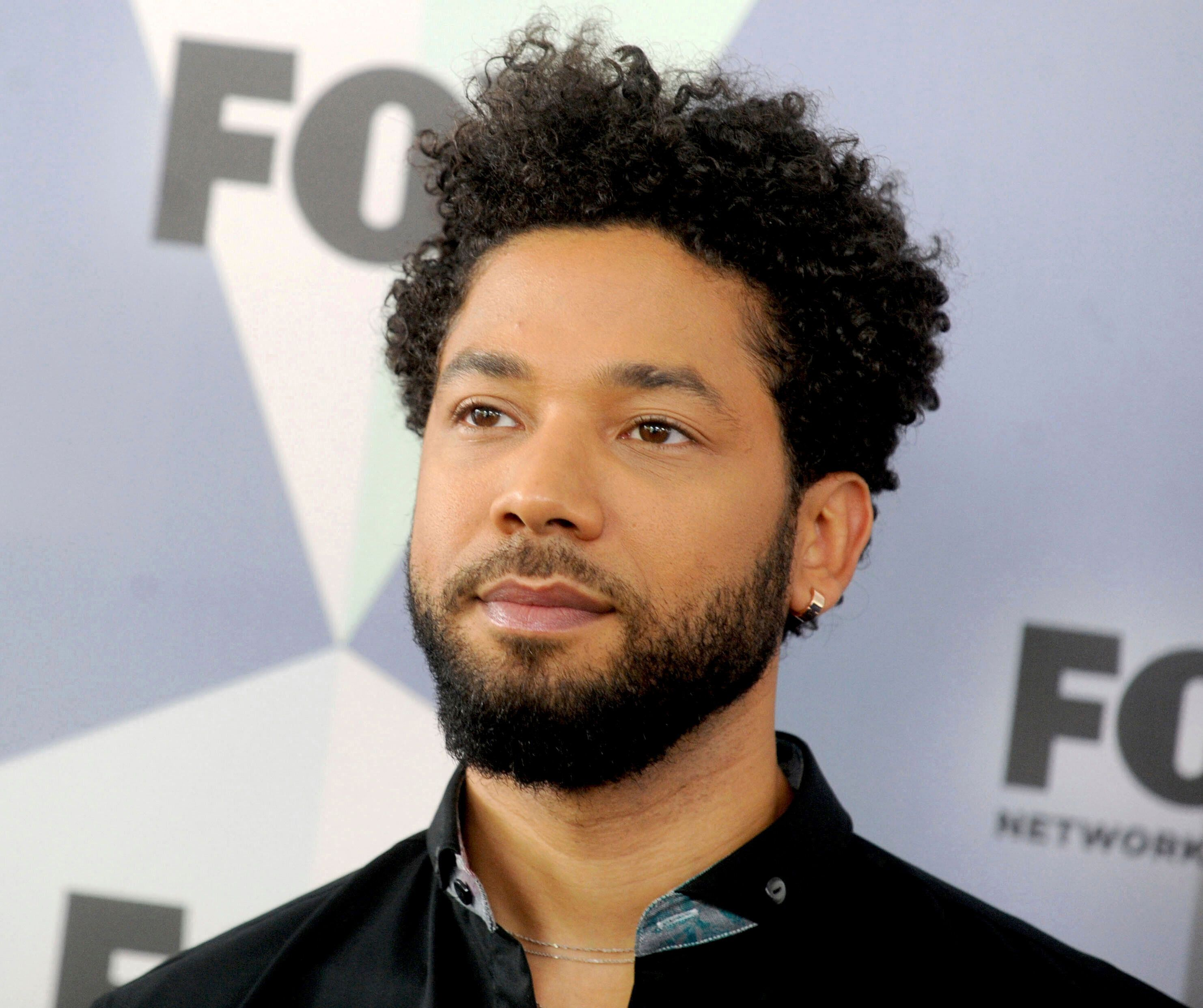 "March 26th 2019 - All charges have been dropped against Jussie Smollett. In a stunning move on Tuesday, March 26, 2019, prosecutors in Cook County, Chicago, Illinois have dropped all charges against actor Jussie Smollett who had been accused of staging a hate crime attack against himself in downtown Chicago on January 29th. - March 14th 2019 - Jussie Smollett pleads not guilty in Cook County court to 16 counts of disorderly conduct, maintaining his innocence amid allegations as detailed below that he faked an attack against himself. - March 8th 2019 - Jussie Smollett has been indicted on 16 felony counts of disorderly conduct by a Cook County (Illinois) grand jury in connection with the January 29th incident in which he claimed he was the victim of an attack. Following below, these charges allege that Smollett orchestrated the attack and filed false reports of a crime. - February 21st 2019 - Jussie Smollett is under arrest in custody of Chicago police. He has been charged with Disorderly Conduct / Filing A False Police Report in connection with the January 29th incident in which he claimed he was the victim of an attack. Following below, these charges allege that Smollett orchestrated the attack. - February 18th 2019 - The investigation of the alleged attack on actor Jussie Smollett continues with new evidence suggesting that Smollett may have orchestrated the attack. Smollett continues to deny any involvement in said orchestration according to a statement from his attorneys. Update to the following - January 29th 2019 - Actor Jussie Smollett was the victim of an attack in Chicago, Illinois which is being investigated as a possible hate crime. According to police reports, he was assaulted after leaving a fast food restaurant by two men in ski masks who made racial and homophobic slurs and then poured an unknown liquid on Smollett and put a noose around his neck. Smollett identifies himself as a gay man and his mother is African-American. Further reports claim Smollett told police that his attackers touted ""MAGA"" (Make America Great Again) during the assault. Smollett said that he fought off the attackers and then admitted himself to Northwestern Memorial Hospital from which he was released ""in good condition"" later that morning. - File Photo by: zz/Dennis Van Tine/STAR MAX/IPx 2018 5/14/18 Jussie Smollett at The 2018 Fox Network Upfront in New York City. (NYC)"