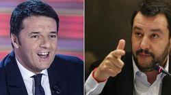 Renzi e Salvini tra palco e