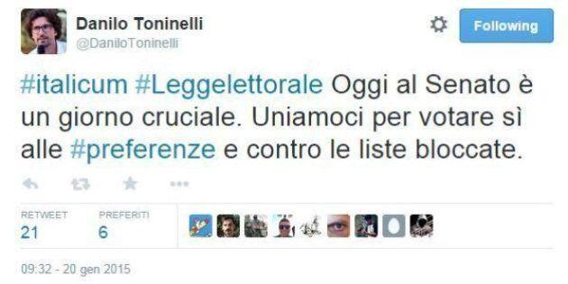 Italicum, Danilo Toninelli M5S: