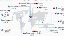La mappa dei miliardari del